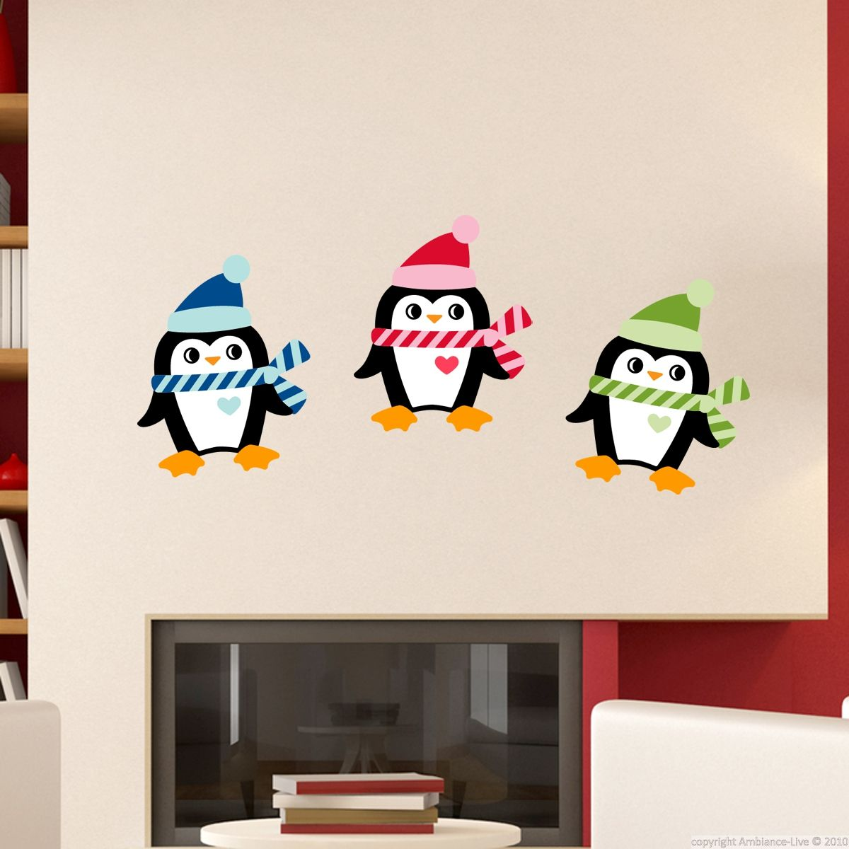 Stickers Decoratifs Pour Noel Sticker Pingouins De Noel Ambiance