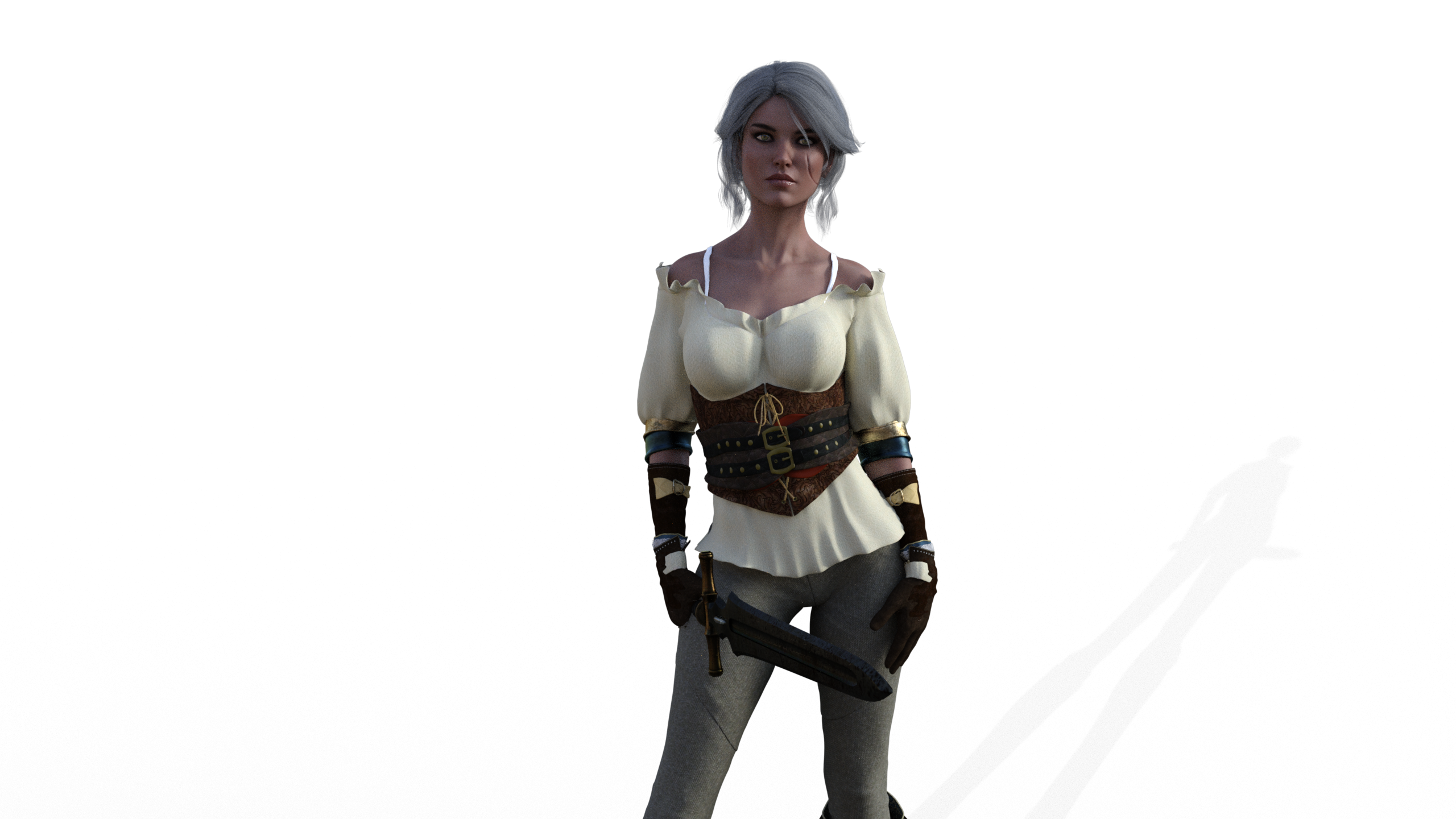 The Witcher 3 Ciri By Ivances D7v55z5 Png 367 1369 The Witcher Warrior Woman Fantasy Girl