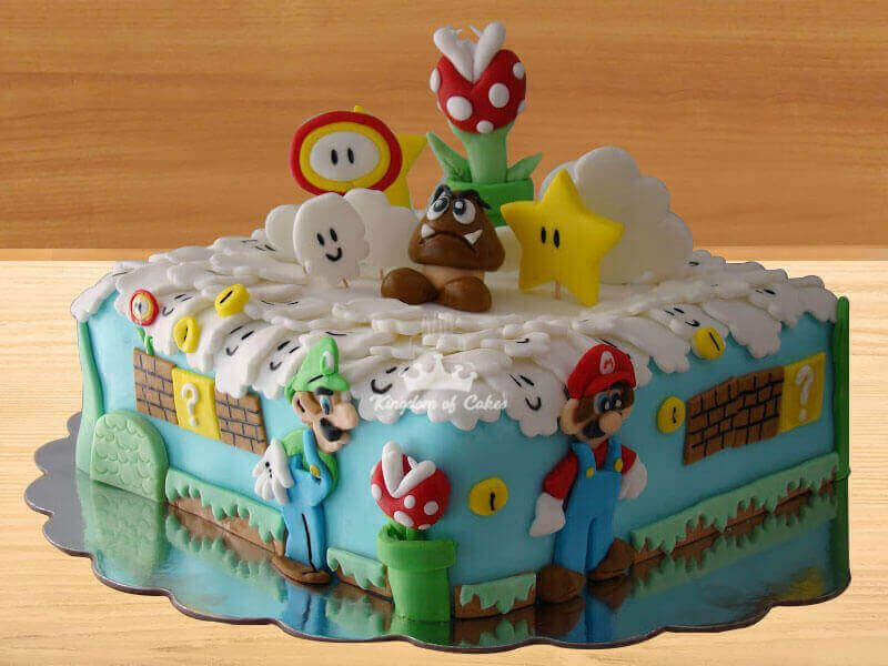 Wondrous Order Online Mario Cake For Kids Unique Designer Birthday Cakes Funny Birthday Cards Online Necthendildamsfinfo