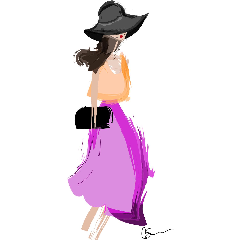 I need a good midi skirt #art #fashionillustration