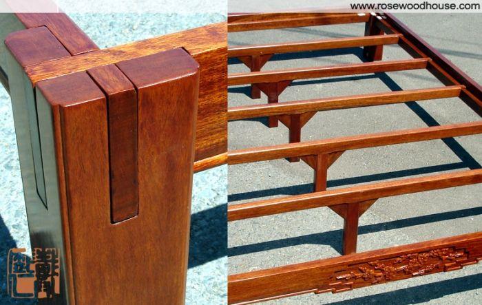 tatami platform bed frame solid rosewood | nomadic life