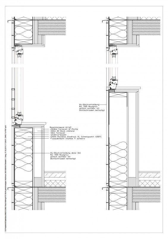 Holzbau detail fenster  Brandschutz im Holzbau - Außenwand mit Deckenanschluss | Details ...