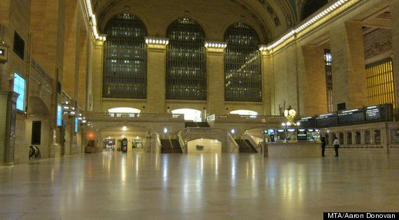 Grand Central Is Empty  For only the second time in the history of New York City mass transit, the MTA has suspended all train, bus, and commuter rail service due to a natural diaster. The first time was last year, for Tropical Storm Irene.
