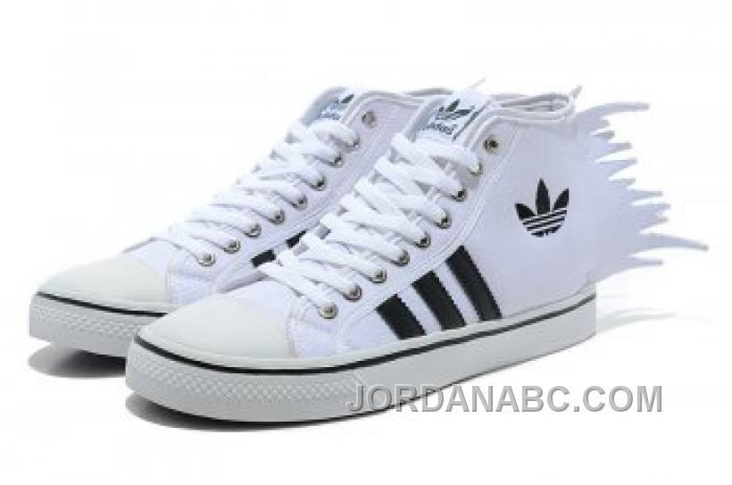 UK Free delivery Adidas Jeremy Scott Nizza Jagged White Shoes