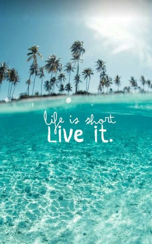 Life Is Short Live It On The Beach Cute Girl Wallpaper Summer Wallpaper Nature Iphone Wallpaper