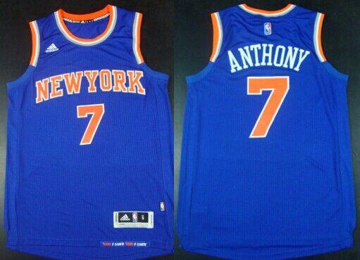 New York Knicks  7 Carmelo Anthony Revolution 30 Swingman 2014 New Blue  Jersey 222fe3008