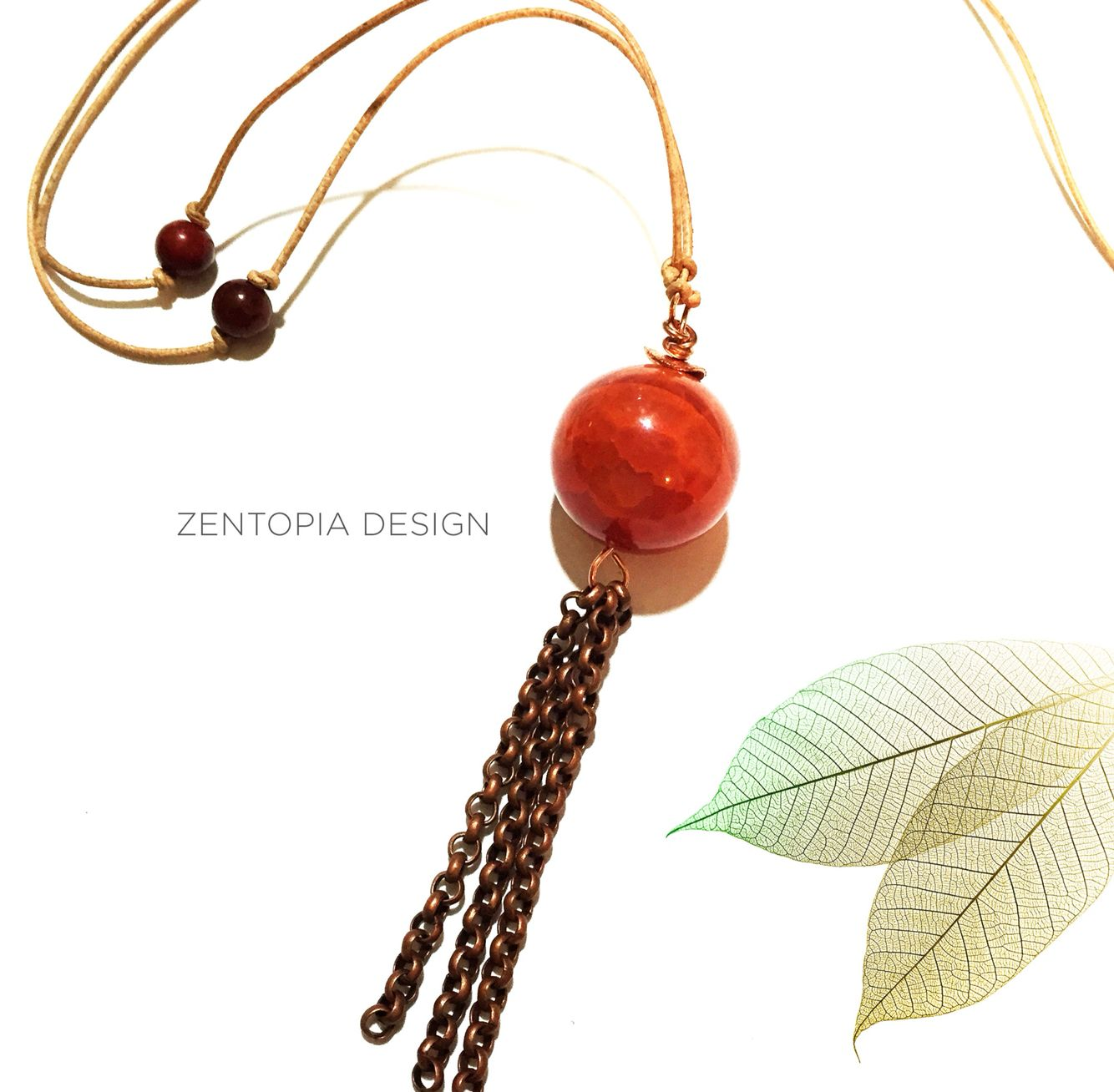 Wire wrapped this gorgeous rust red carnelian bead on natural ...