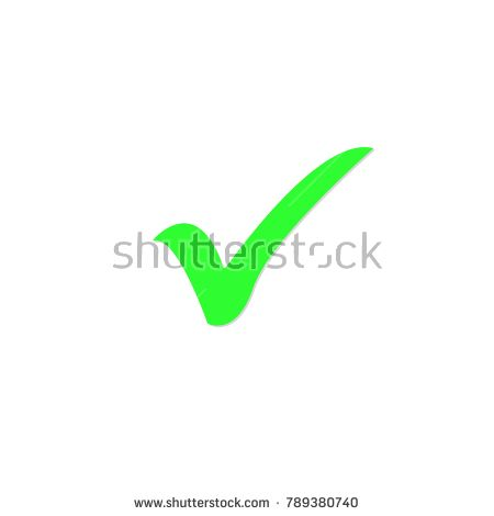 Green Check Mark Icon Tick Symbol In Green Color Vector