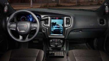 Dodge Charger Pursuit Takes Tesla Interior Approach Dodge Charger Dodge Charger Interior Dodge Charger Sxt
