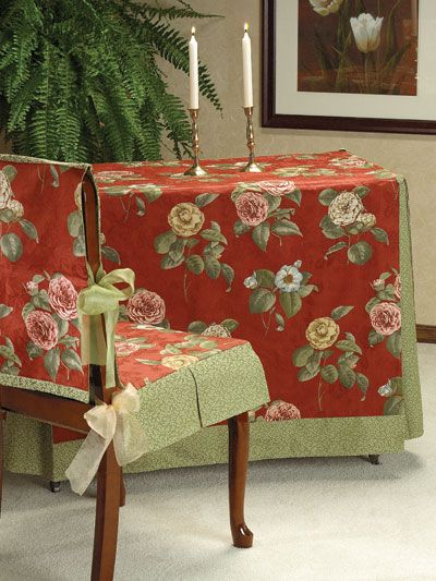 Sew Dining Room Chair Covers create a custom-fit slipcover for any table or chair using this free