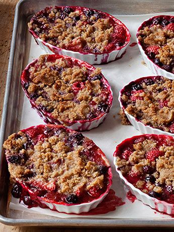 Ina Garten's Tri-Berry Crumbles | The Saturday Evening Post