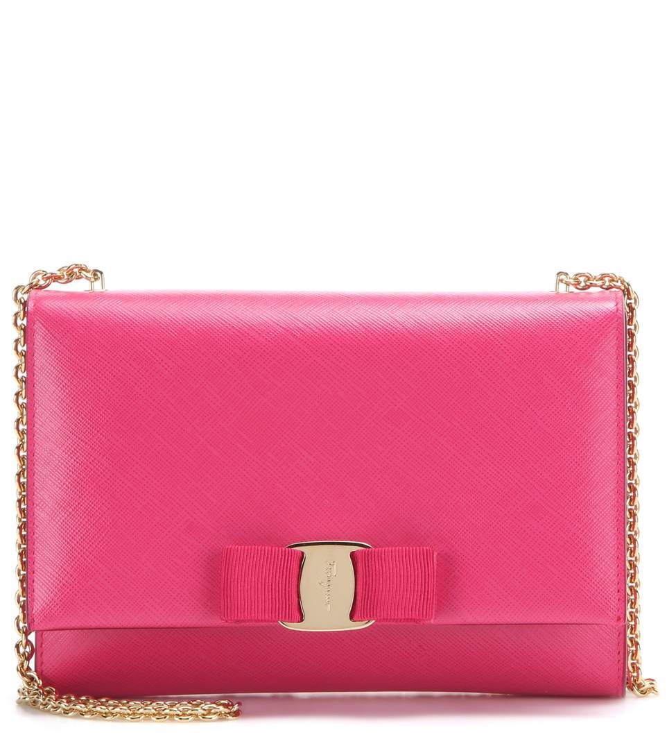Ginny Small pink leather shoulder bag