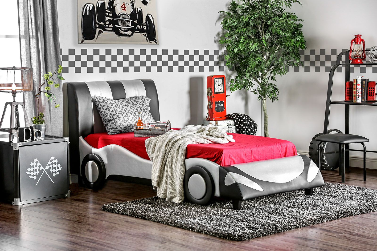 Best Super Racer Collection 7945T Twin Racecar Bed Frame 400 x 300