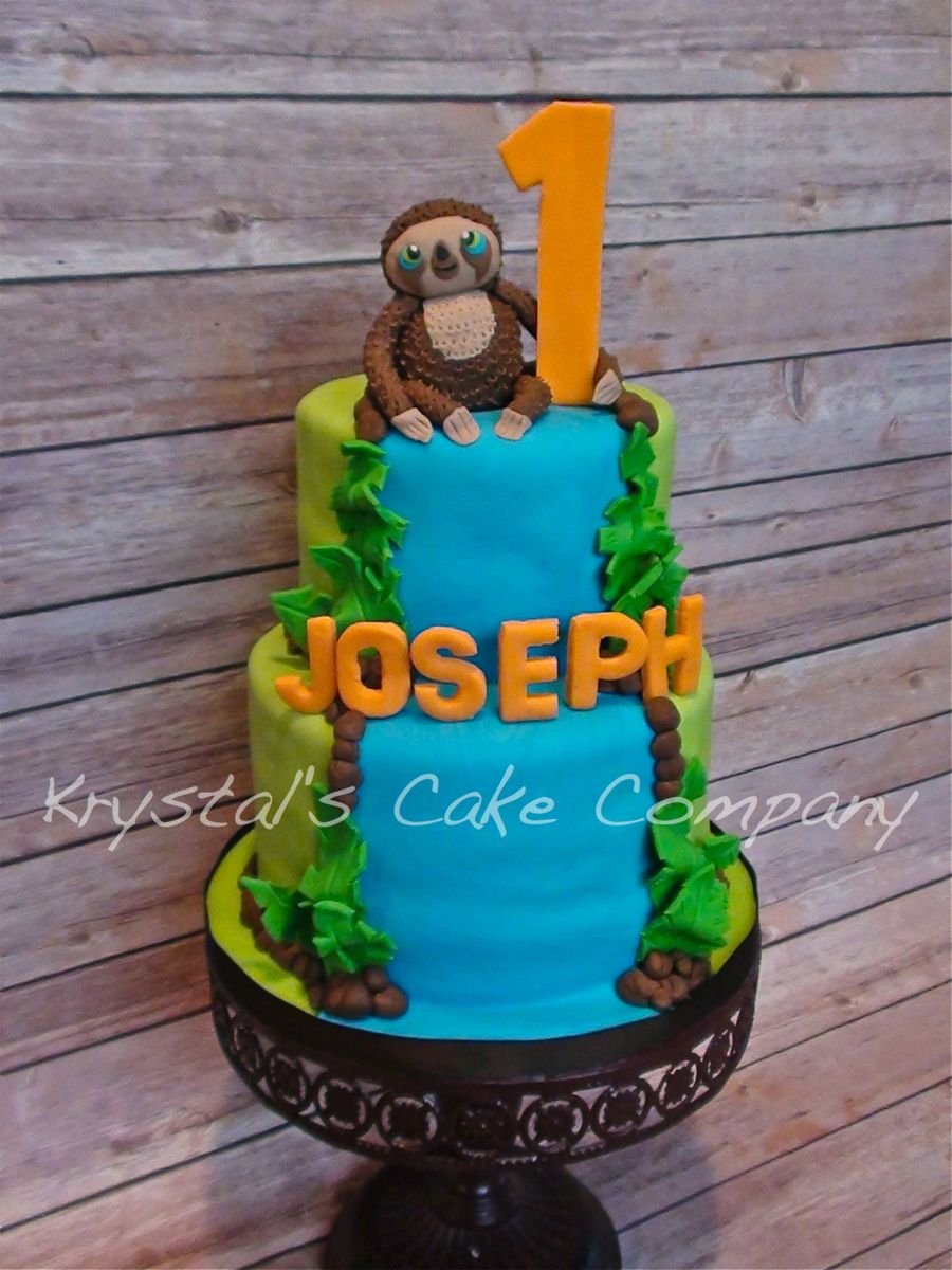 Croods Belt The Sloth On Cake Central Party Ideas Pinterest