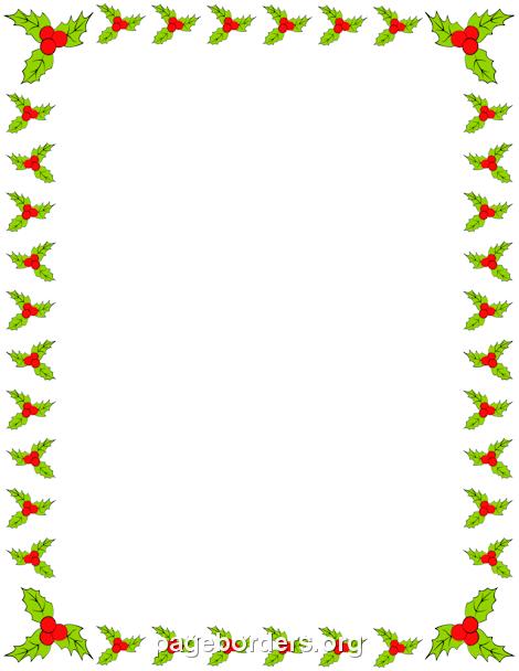 Holly Border Free Christmas Borders Page Borders Free Christmas Printables