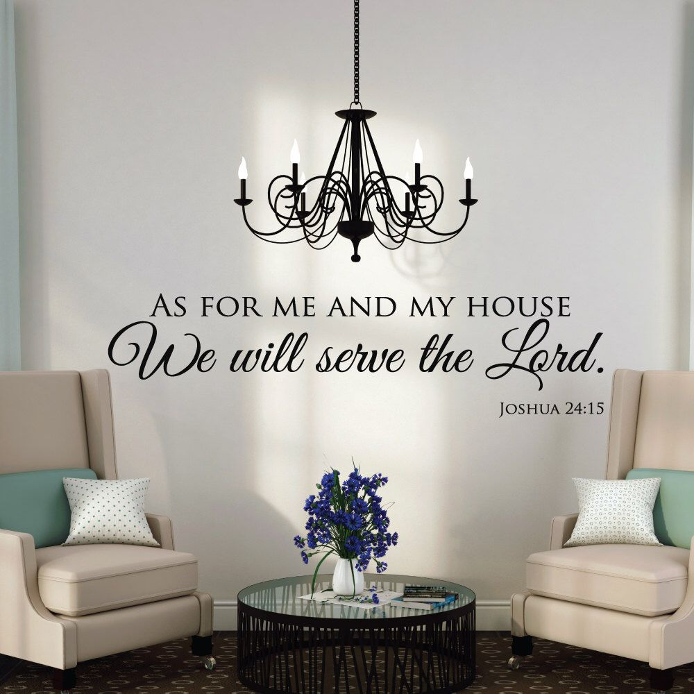 As For Me And My House   Wall Decals Quotes   Christian Wall Art   Scripture  Quotes   Scripture Wall Decals   Christian Wall Decals By Luxeloft On Etsy  ...