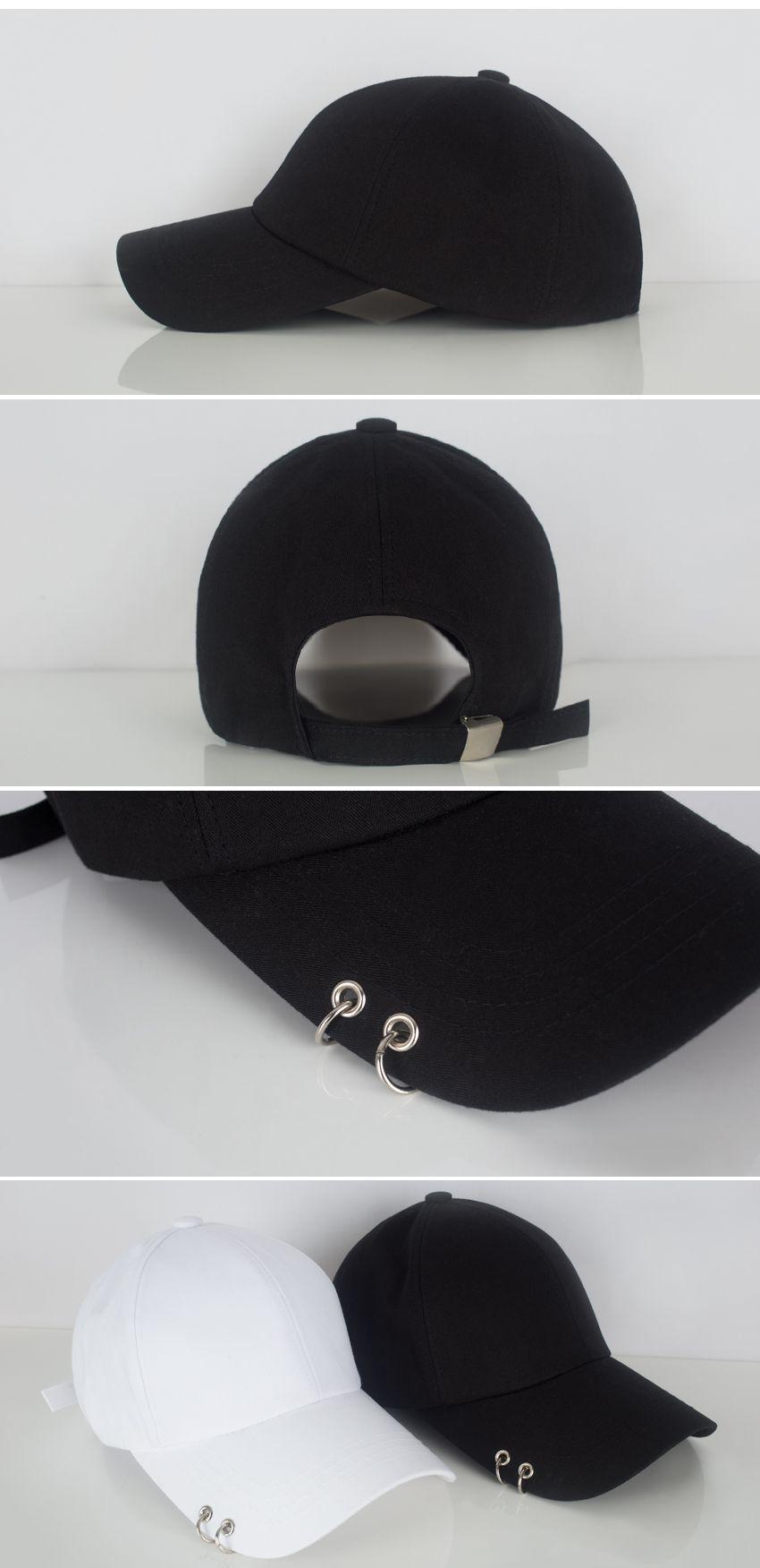 Double Ring Brim Baseball Cap Mixxmix Trending Boots Black Baseball Hat Korean Black