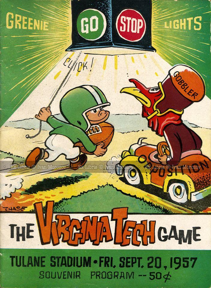 1957.09.20. Virginia Tech (Hokies) at Tulane University