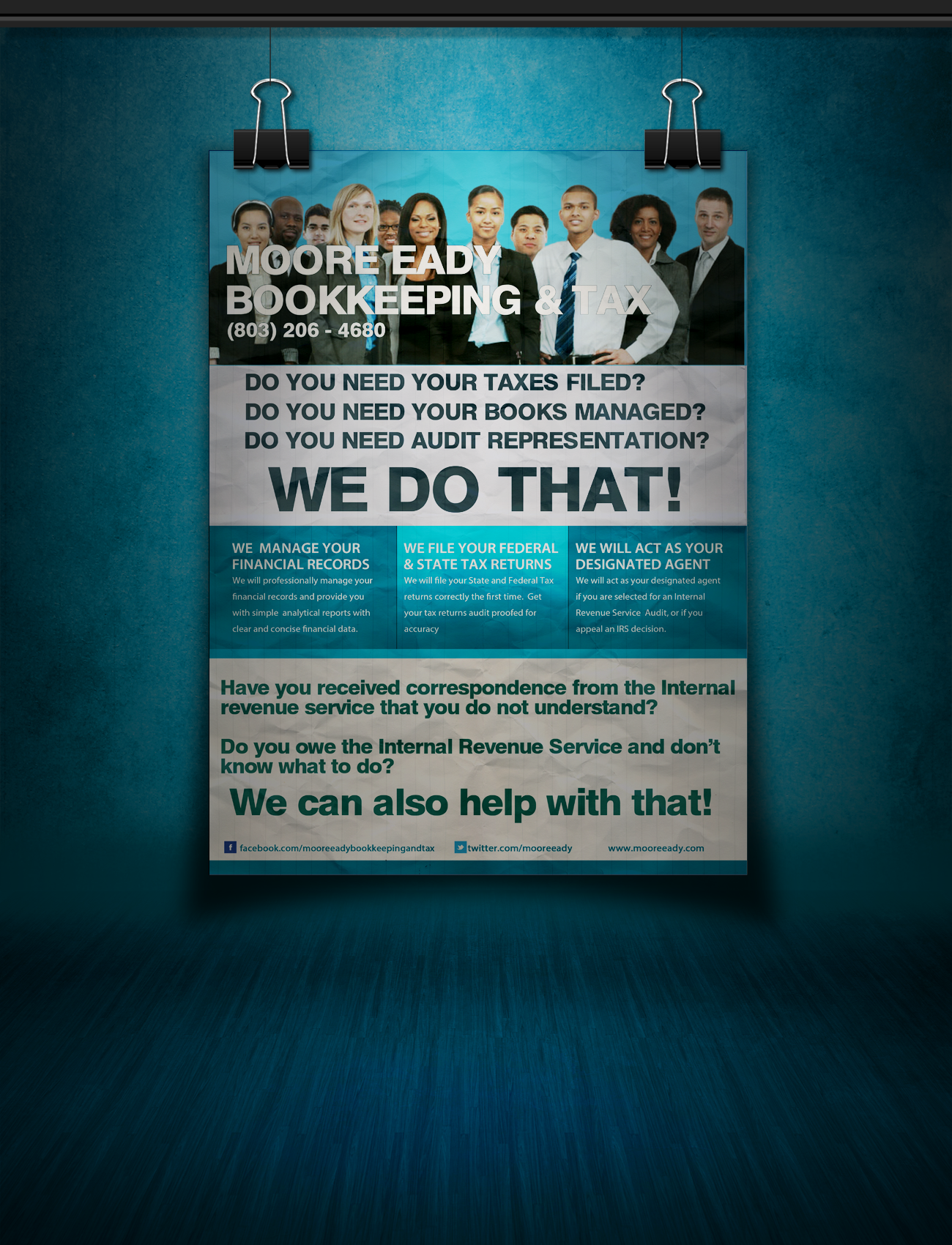business tax refund financial service flyer template tax refund the official moore eady bookkeeping tax flyer 2013