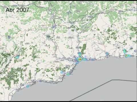 estudio de Víctor R. Ruiz  sobre geolocalización de fotografías en Málaga http://www.slideshare.net/rvr/flickr-mlaga-minera-de-datos-en-redes-sociales-aplicadas-al-sector-turstico