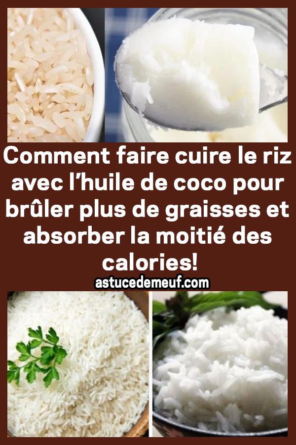 Comment faire cuire le riz avec l'huile de coco pour