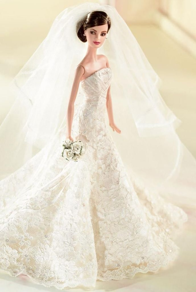 Barbie vestida de novia por Carolina Herrera | MI COLECCION DE ...