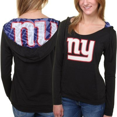06d14557 New York Giants Women's Sublime Knit Hoodie - Black | Fashion ...
