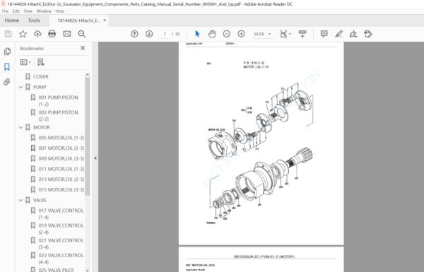 Hitachi Ex30ur 2c Excavator Equipment Components Parts Catalog Manual Pdf Download Hey Downloads Hitachi Parts Catalog Manual