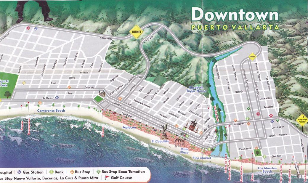 image result for tourist maps of puerto vallarta