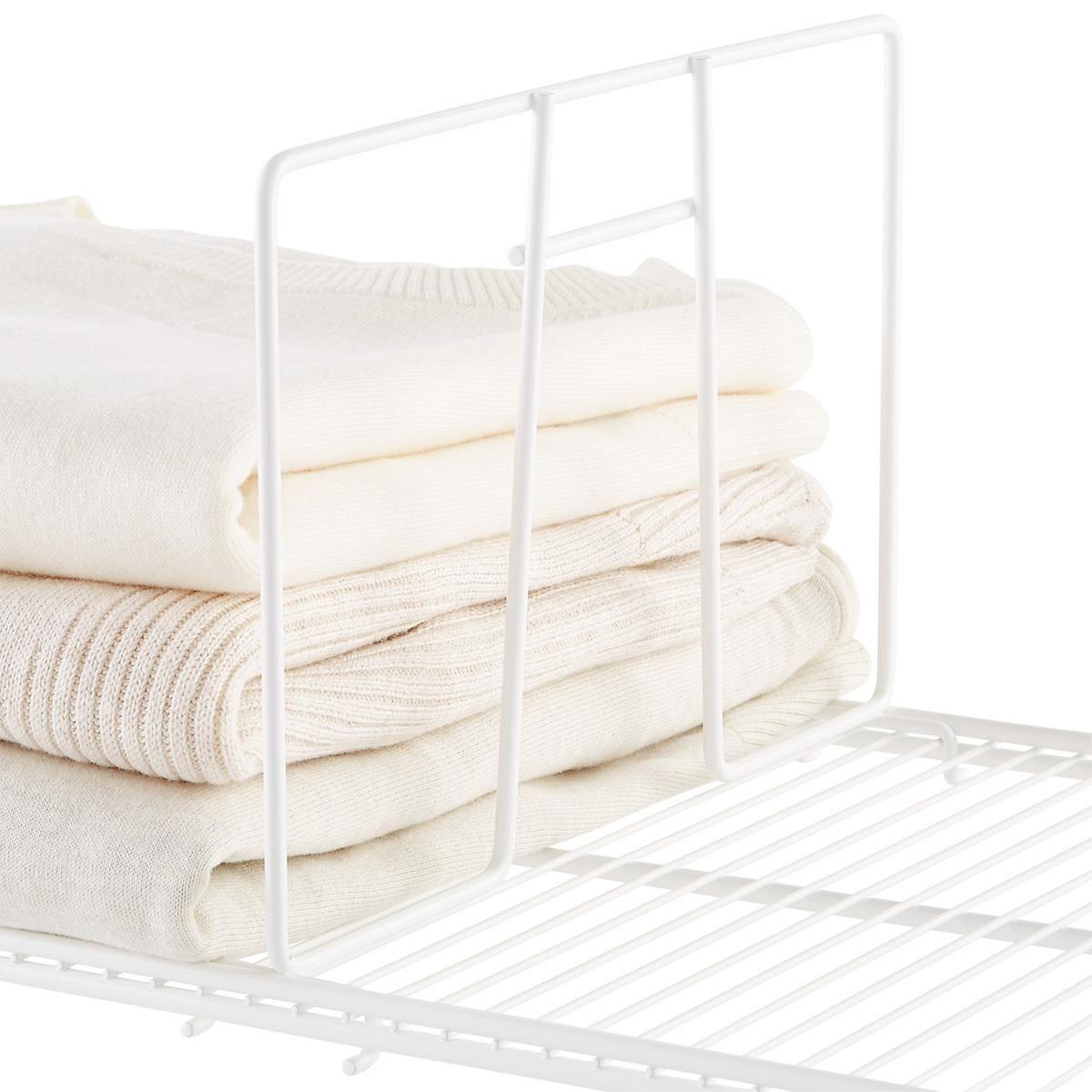 White elfa ventilated wire shelf dividers pro organizer
