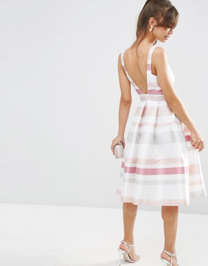 Asos asos stripe vintage midi prom dress at asos bridesmaid
