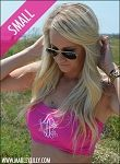 Monogrammed Hot Pink Bathing Suit Bandeau Tube Top