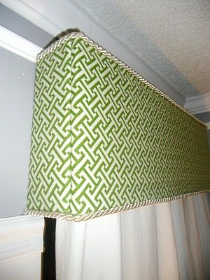 Or I could put in a fabric covered cornice board :) So ...