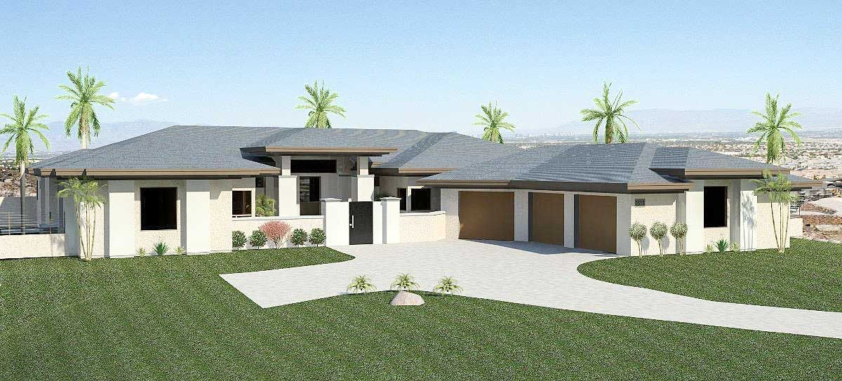 lots of outdoor space and an attached casita enhance this contemporary ranch house planwell - House Plans With Attached Casita