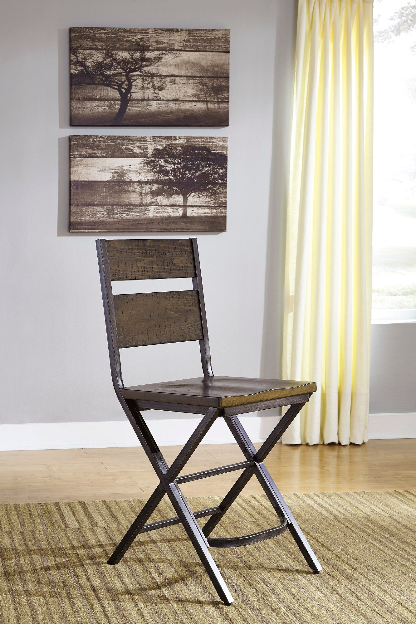 Miraculous Reclaimed Wood And Metal Counter Height Stool Kavara In Cjindustries Chair Design For Home Cjindustriesco
