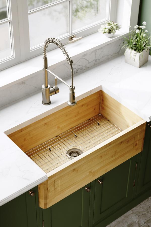 895 Single Bowl Bamboo Apron Sink Kitchen Design Small Outdoor Kitchen Design Best Kitchen Sinks