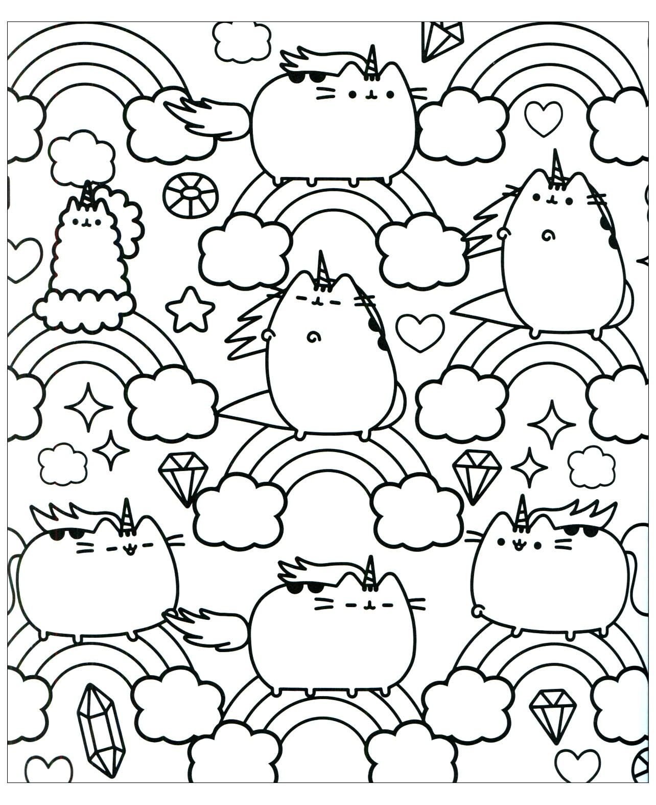 36+ Pusheen coloring pages to print information
