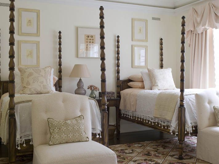4 Poster Canopy Twin Bed And Dresser