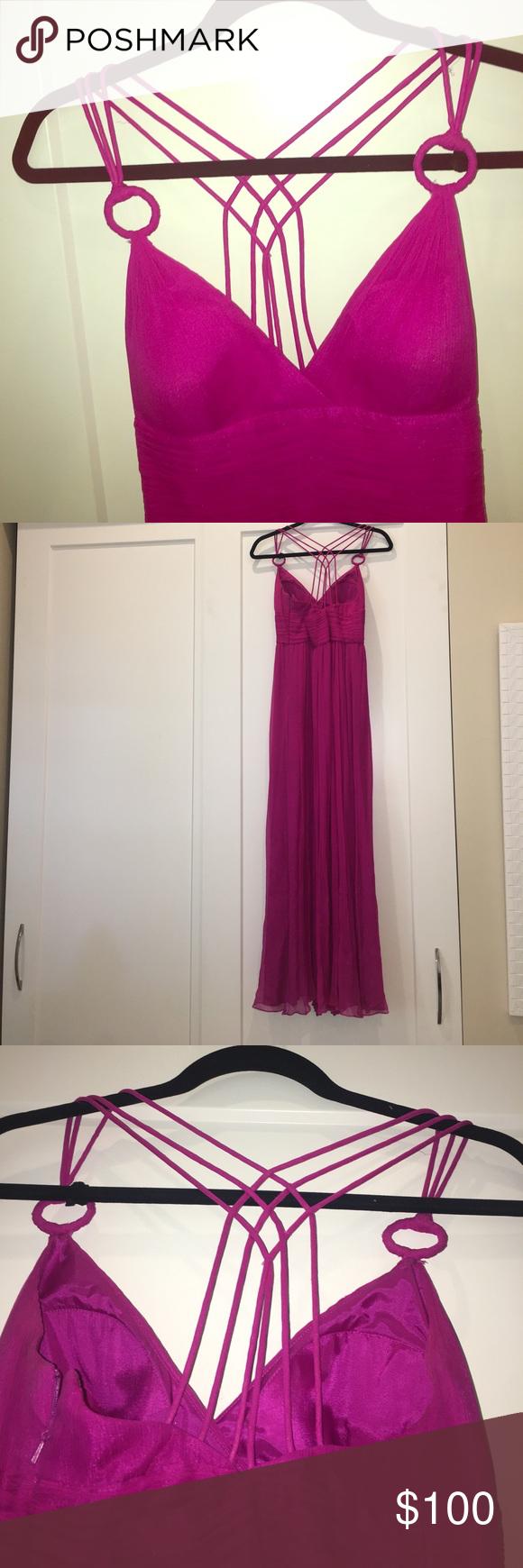 Auden mattox magenta gown
