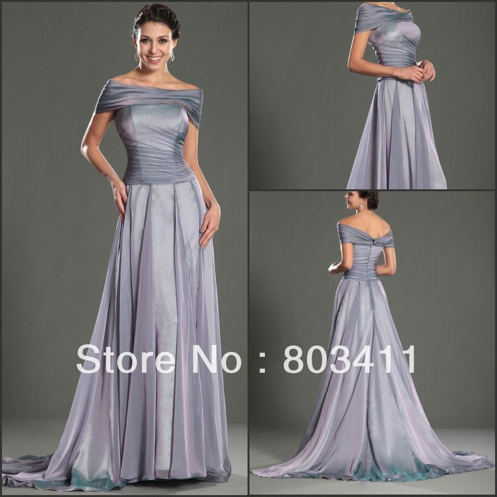 Free Shipping New Design Gorgeous Off The Shoulder A-Line Court Train  Evening Dress 189a0df92c7a