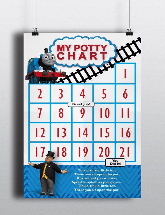 Thomas the Train Potty Training Incentive Chart https://www.etsy.com ...