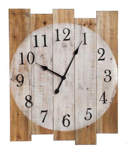 Rustic Wood Pallet Wall Clock | Kitchen wall clocks ...