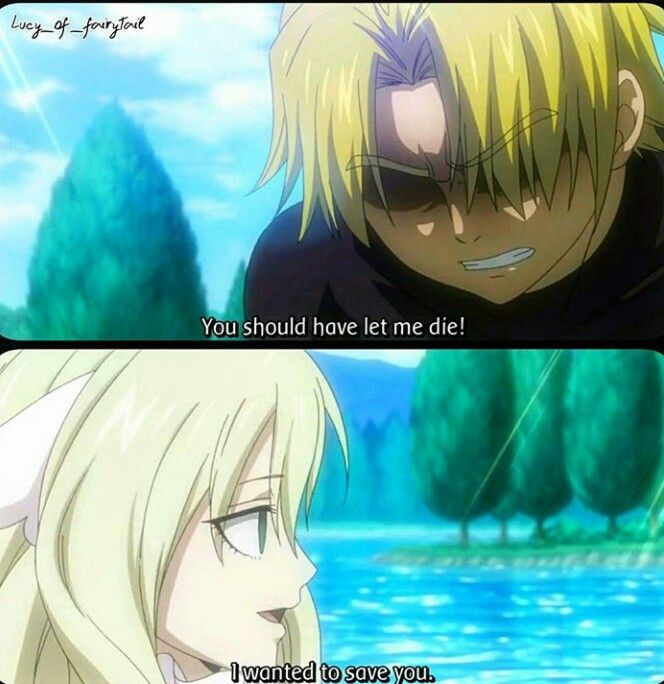 Yuri and Mavis. I literally cried 2 times in just this episode. 4 times total in the FairyTail Zero series.