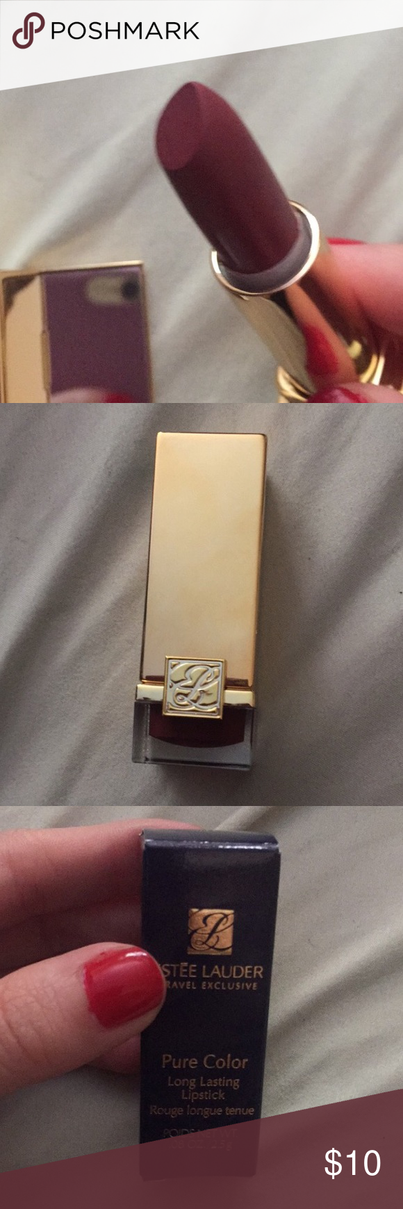 "ESTEE Lauder travel size lipstick Brand new and authentic ! Never used. In the color ""fig"" Makeup Lipstick"