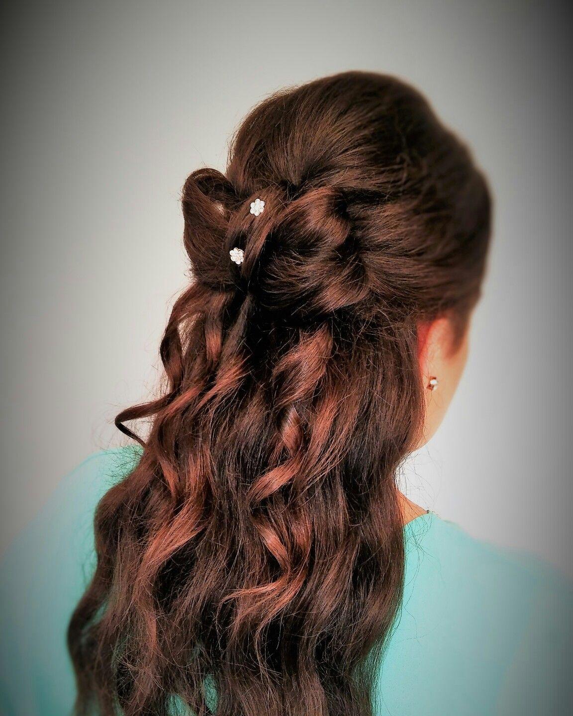 Cute hair bow wedding hairstyles pinterest