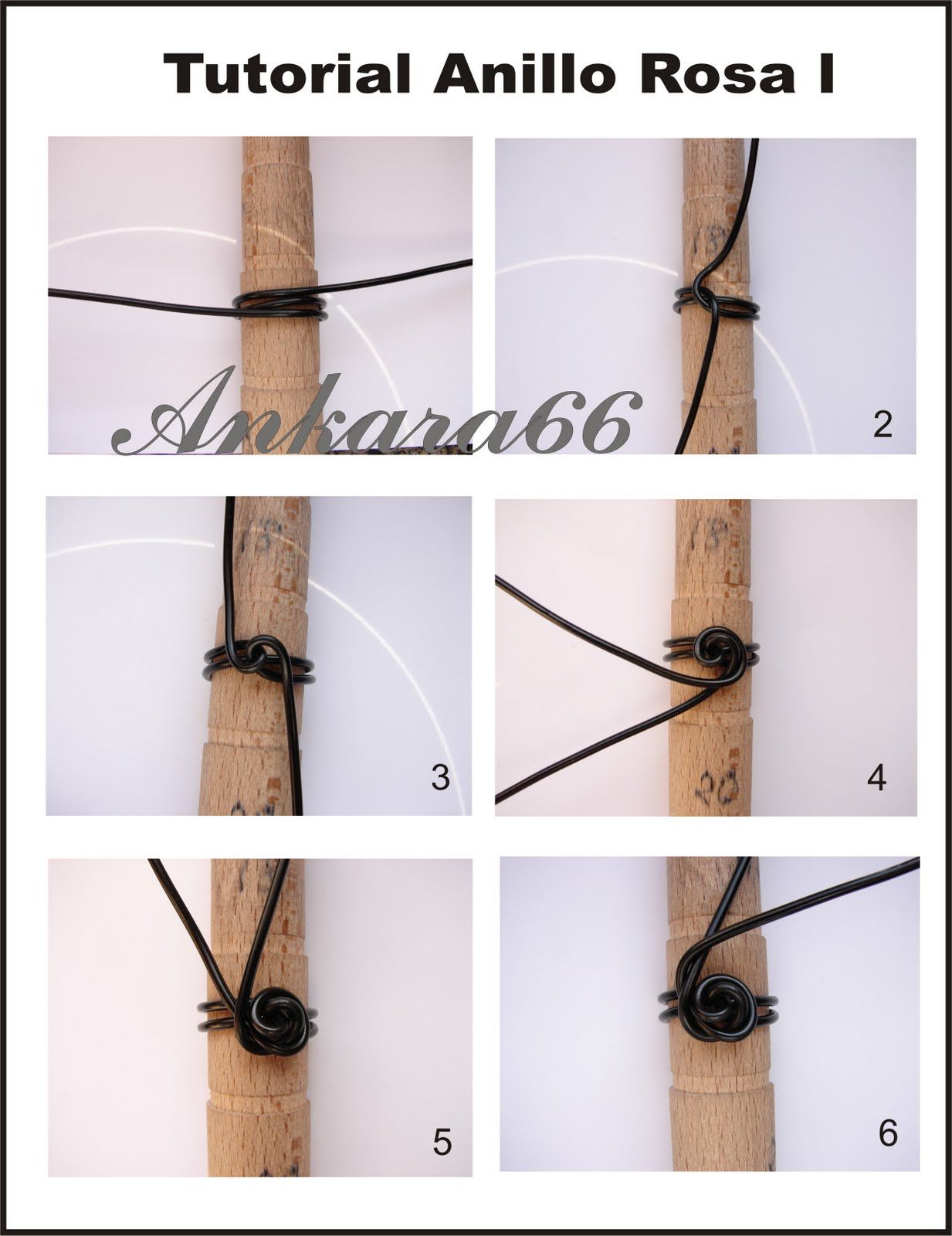 Wire Rose Tutorial steps 1-6 (out of 12 steps) | Wire Crafts ...