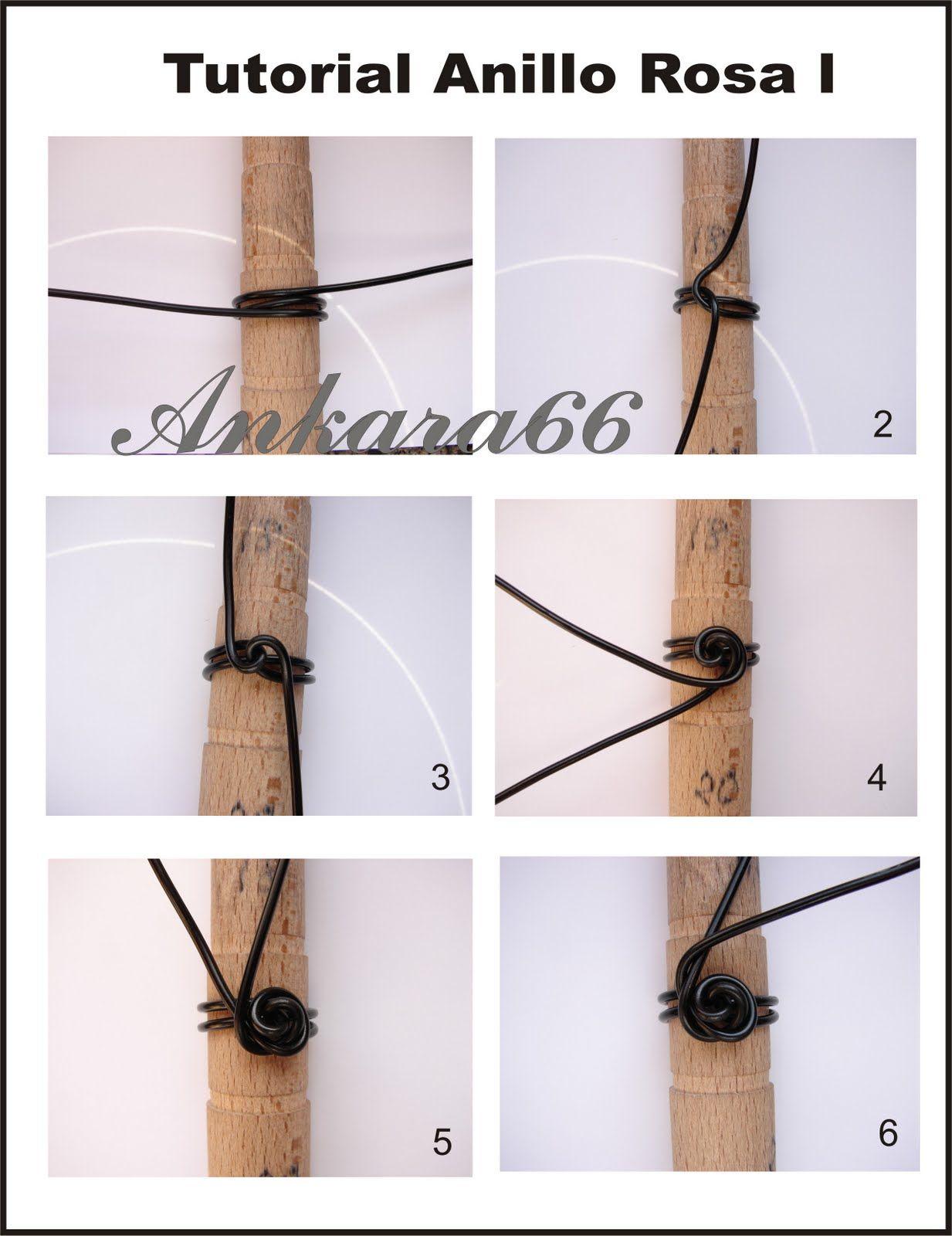 Wire Rose Tutorial steps 1-6 (out of 12 steps) | Bracelet Makin ...