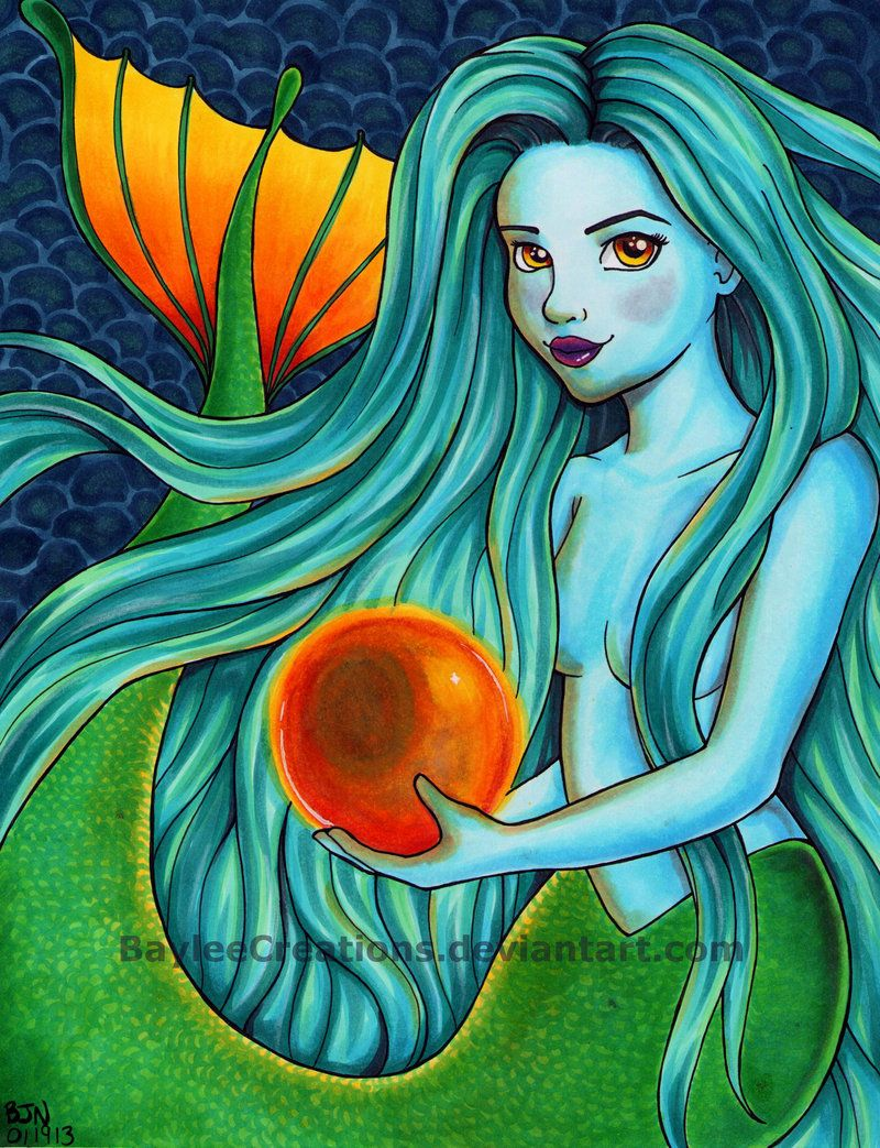 Line Art By Baylee Jae : Copic marker illustration mermaid by baylee jae