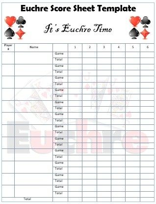 Euchre Score Card Template Sample Euchre Score Card Template Person