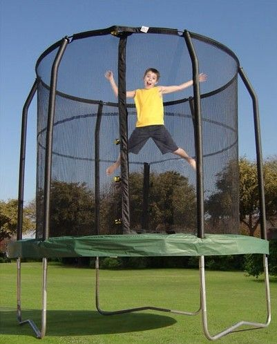 Best 25 Trampoline With Enclosure Ideas On Pinterest